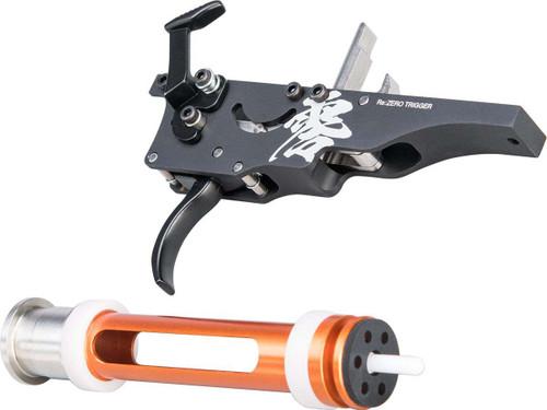 Laylax PSS10 REZERO Trigger with High Pressure ZERO Piston for Tokyo Marui VSR-10 Airsoft Sniper Rifles
