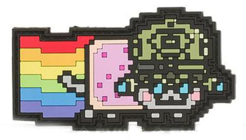 Aprilla Design PVC IFF Hook & Loop Pop Culture Series Patch (Model: NVG Nyan)