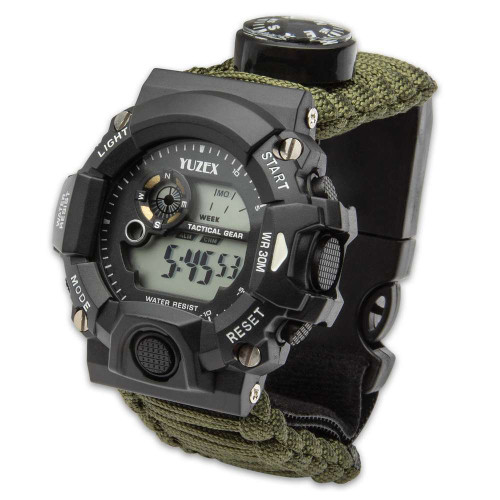 Multi-Function Watch With Paracord Strap