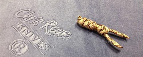 Chris Reeve Sebenza Large Lanyard - Desert Camo w/ Gold Bead