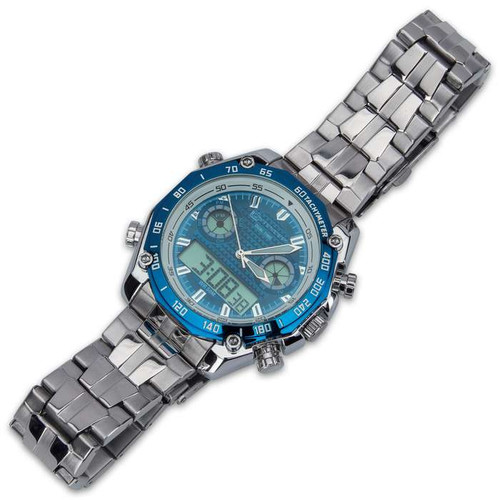 Blue And Stainless Everyday Casual Watch
