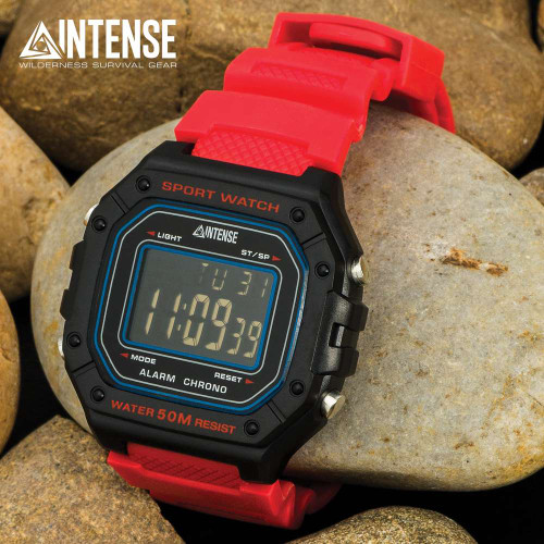 Intense Red Sport Digital Watch