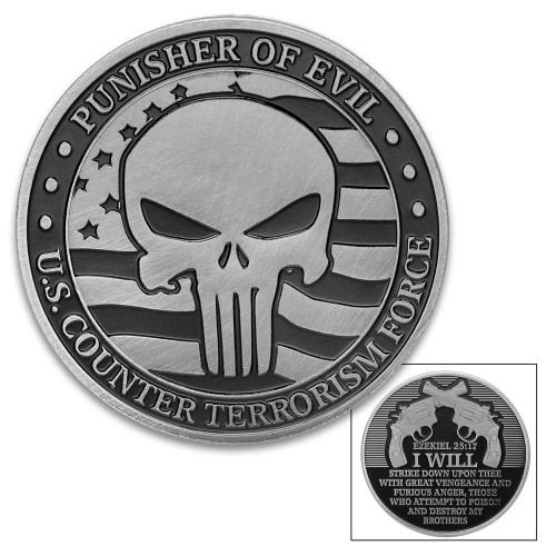 Punisher Of Evil Challenge Coin