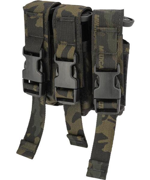 High Speed Gear HSGI Triple Modular Pistol Magazine MOLLE Pouch (Color: Multicam Black)