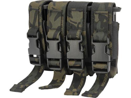 High Speed Gear HSGI Quad Modular Pistol Magazine MOLLE Pouch (Color: Multicam Black)