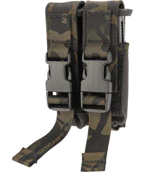 High Speed Gear HSGI Double Modular Pistol Magazine MOLLE Pouch (Color: Multicam Black)