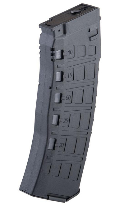 Arcturus Variable Cap Silent 30/135 Round Mid-Cap AEG AK12 Magazine (Color: Black)