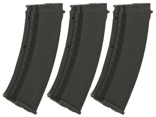 KWA AKR-74M 120rd ERG Magazines for KWA Airsoft Electric Recoil Rifles (Color: Black)