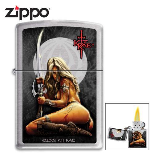 Zippo Kit Rae Enethia Lighter - High-Polish Chrome Case