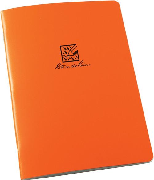 Large Stapled Notebook Orange