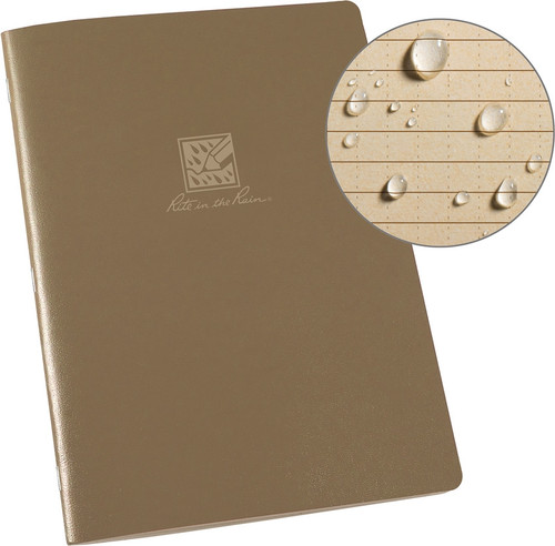 Large Stapled Notebook Tan