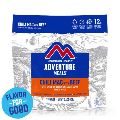 Mountain House Freeze Dried Camping Food (Menu: Chili Mac with Beef)