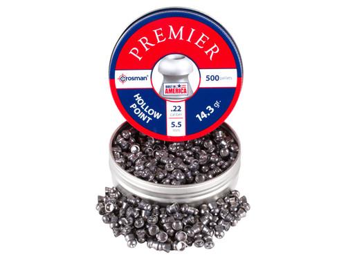 Crosman Premier .22 Cal 14.3 Grains Hollowpoint 500ct