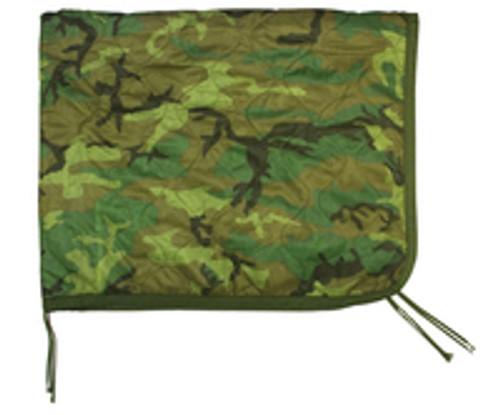 U.S. Armed Forces Wet Weather Poncho Liner/Ranger Blanket - Woodland - AS IS