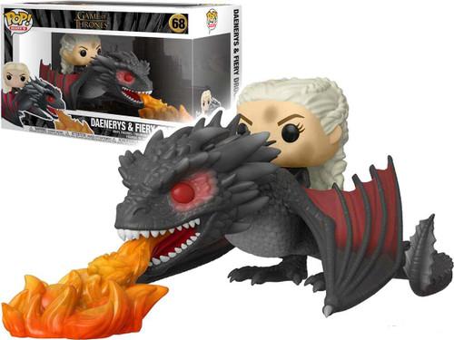 Funko POP! Rides - Game of Thrones Daenerys On Fiery Drogon Vinyl Figure