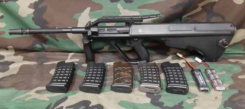 ASG Steyr Licensed Metal Gearbox AUG A2 Airsoft AEG Rifle - Package - USED
