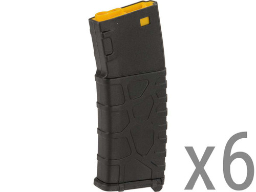 Classic Army VMS 330 Round M4/M16 Series High-Cap AEG Magazines - Pack of 6 (Color: Black)