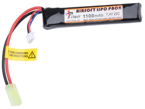 Intellect iPower 7.4v 1100mah 20c Airsoft Buffer Tube LiPo Battery Pack
