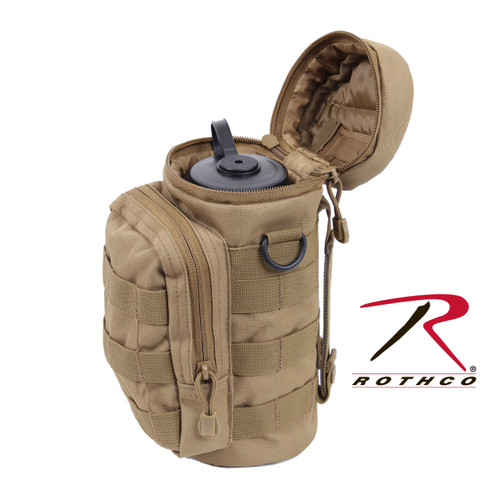 MOLLE Compatible Water Bottle Pouch - Coyote Brown