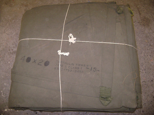U.S. Armed Forces Extreme Heavy Weight Canvas Tarp 20'x40'