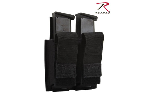 MOLLE Double Pistol Mag Pouch w/Insert