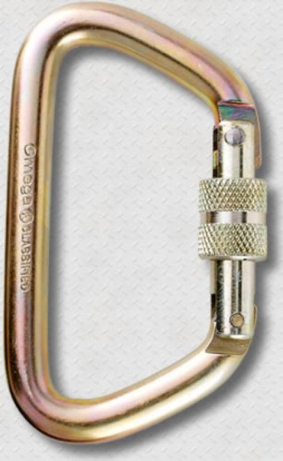 Carabiner - Omega Pacific 1/2'' Locking D Steel NFPA