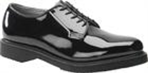 Corcoran Oxford Black Shiny Patent Leather Clarino Shoe