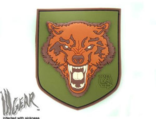 JTG Wolf PVC Morale Patch - Full Colour