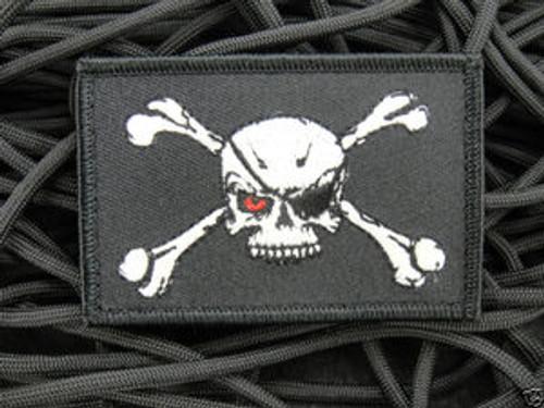 Modern Day Evil Blackbeard Pirate Flag - Morale Patch
