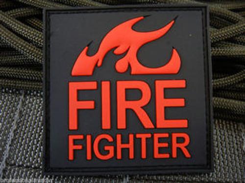 JTG Firefighter PVC Red - Morale Patch