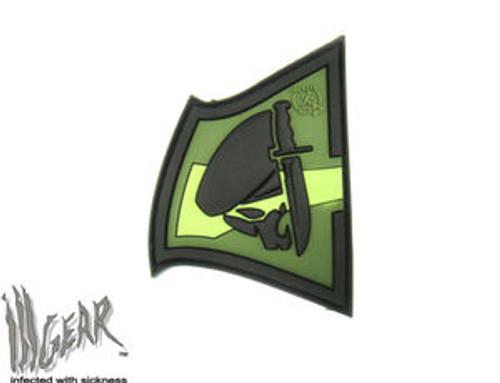 JTG Rebell Skull Knife PVC - Forest