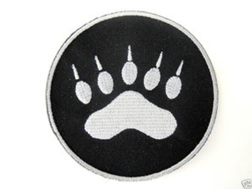 Tracker Paw Black/Silver - Morale Patch
