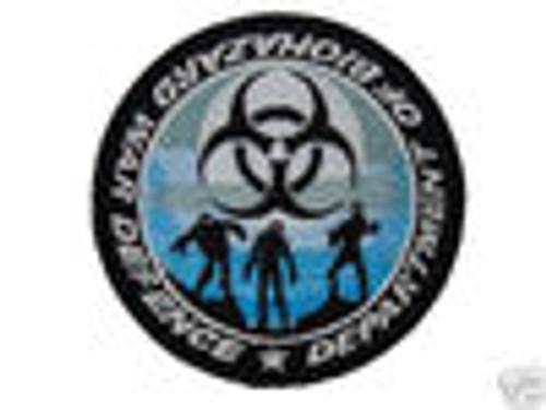 Department of Biohazard War Defense - Blue Glow In The Dark - Morale Patch