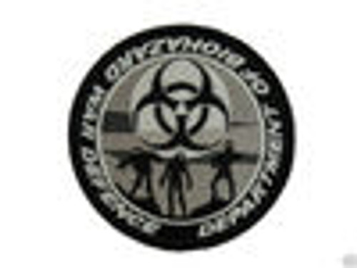 Department of Biohazard War Defense - Gray Glow In The Dark - Morale Patch