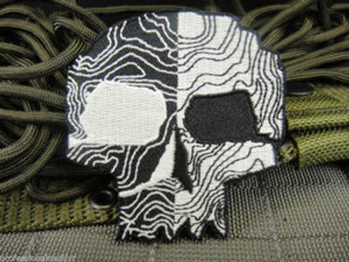 Skull - Topographic - Morale Patch