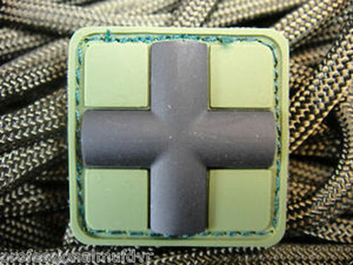 Mini PVC Redcross Medic - Forest Green - Morale Patch