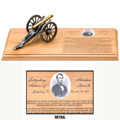 Gettysburg Address Cannon Set