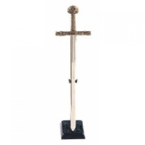 Medieval Charlemagne Gold Trim Letter Opener Without Scabbard