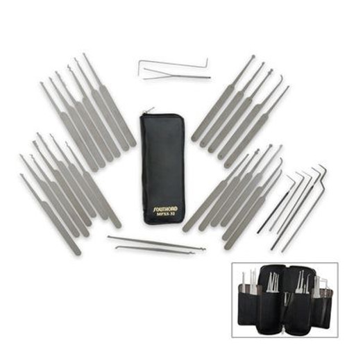 32pcs. Southord Lock Pick Set w/Leather Zipper Pouch