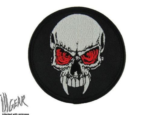 Fang Skull - Glow In The Dark- Morale Patch