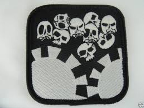 Skulls and Poker Chips GITD - Morale Patch