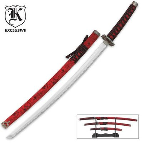 Red Dragon Samurai Sword Set