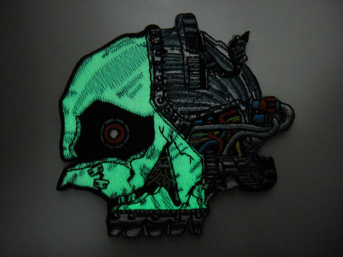 Zombie Terminator Skull Glow In The Dark - Morale Patch