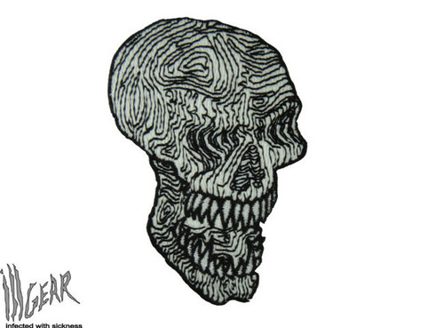 Topographic Map Skull Glow In The Dark - Morale Patch