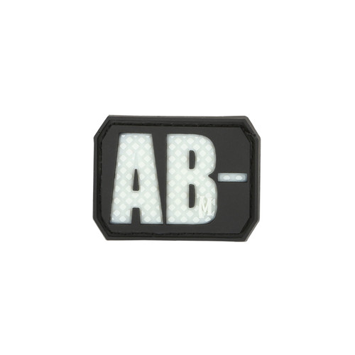 AB- Blood Type PVC - Morale patch - Glow In The Dark