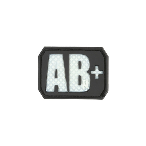 AB+ Blood Type PVC - Morale Patch - Glow In The Dark