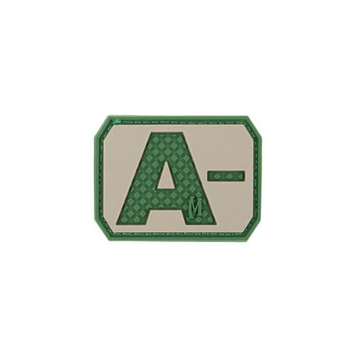 A- Blood Type PVC - Morale Patch - Arid