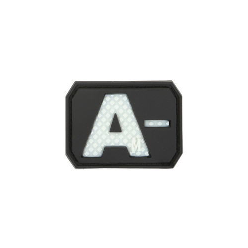 A- Blood Type PVC - Morale Patch - Glow In The Dark