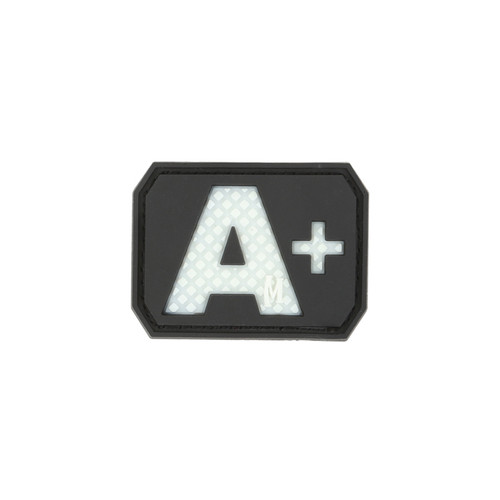 A+ Blood Type PVC - Morale Patch - Glow In The Dark