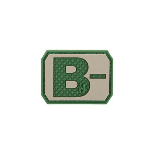 B- Blood Type PVC - Morale Patch - Arid